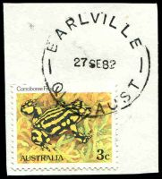 Lot 8185:Earlville: - 'EARLVILLE/27SE82/QLD-AUST', on 3c Frog. [Rated 2R]  PO c.-/1/1948.