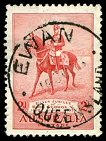 Lot 1625:Ewan (2): - 29mm 'EWAN/16OC35/·QUEENSLAND·' on 2d Jubilee. [Rated 2R ]  RO 10/8/1910; PO c.1923; closed 4/12/1946. [mining]