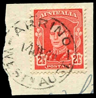 Lot 3140:Arrino (4): - 'ARRINO/14JE48/WESTN AUST.' (B27) on 2½d red KGVI.  RO 28/9/1910; PO 10/6/1911; closed 20/11/1981.