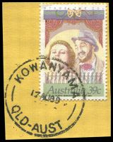 Lot 1248:Kowanyama (2): 'KOWANYAMA/17AU89/QLD-AUST' on 39c Stage.  PO c.-/1/1972.