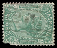 Lot 1761:252: '252' on 2d Sideface (blunt corner). [Rated 3R]  Allocated to Georges River-PO 1/12/1885; renamed Pyengana PO 31/12/1888.