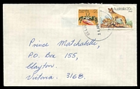 Lot 3526:Beldon: - 'BELDON/24APR1980/W.A. 6025' (G33Ra) on 2c Crab & 20c Dingo on cover to Victoria.  PO 1/2/1978.