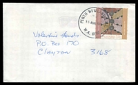 Lot 3612:Newcastle Street: - PERTH NEWCASTLE ST./15AUG1988/W.A. 6000' (G36R-b) on 37c Desert Art on cover to Clayton, Victoria.  PO 24/8/1908.