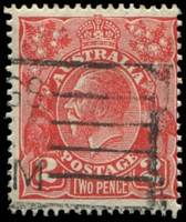 Lot 2119:2d Red Die III [4R38] Small break in shading line at left of left value tablet etc