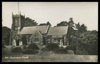 Lot 488:Great Britain: black and white photo PPC of 'Sandringham Church', unused.