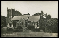 Lot 449:Great Britain: black and white photo PPC of 'Sandringham Church', unused.