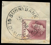 Lot 9262:Sunnybank Post Depot: - 'SUNNYBANK DEPOT/7MY58/QLD-AUST' on 4d lake QEII. [Rated R by Smithies]