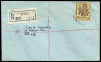 Lot 2805 [1 of 2]:Victoria Market: WWW #90A 'VIC.MARKET MELB.C.1./26AP63/4/VIC-AUS[T]' (A2 backstamp) on 2/5d Banksia with blue registration label on cover to Kew.  Renamed from Elizabeth Street North PO c.-/7/1917; replaced by A'Beckett Street PO 30/6/1989.