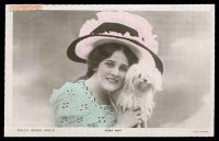 Lot 39 [1 of 2]:Australia: tinted PPC real photo 'Edna May', Philco Series 3102D, franked with 1d pink, cancelled 'BENALLA/_._/930A17SE06/_._/VICTORIA' (A1 - WWW #110A, rated S) used locally.