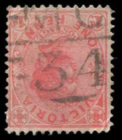 Lot 12706:1134: 'MC/34' on 1d pink. [Rated R]  Allocated to Caralulup-PO 21/7/1879; TO 1/7/1941; closed 13/12/1954.