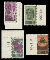 Lot 3367 [3 of 3]:1962 Definitives SG #211-23 set of 13, Cat £50, some marginal units with sheet numbers.