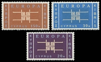 Lot 17987:1963 Europa Co-Operation SG #234-6 set of 3, Cat £22.