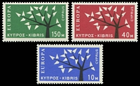 Lot 17983:1963 Europa Tree SG #224-6 set of 3, Cat £25.