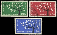 Lot 17984:1963 Europa Tree SG #224-6 set of 3.
