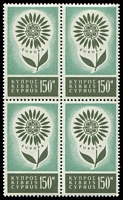 Lot 17988:1964 Europa Flower SG #251 150M block of 4, Cat £44.