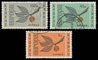 Lot 17990:1965 Europa Sprig SG #267-9 set of 3.