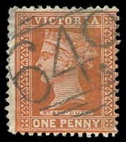 Lot 10755:649: '649' on 1d brown.  Allocated to Condah-PO 12/5/1868; LPO 9/5/1994; closed 28/2/2001.