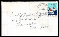 Lot 1805:George Town: 'RELIEF/24SE81/2/TAS-AUST' on 24c IYDP on cover; senders address is Georgetown.  PO 11/12/1822.