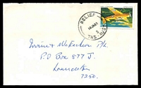 Lot 1946:8: 'RELIEF/16JA81/8/TAS-AUST' on 22c Wackett on cover.