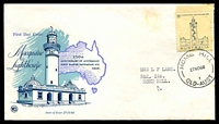 Lot 4747:WCS 1968 Lighthouse illustrated FDC by 'HOME HILL/27NO68/1/QLD-AUST' (Rated R - A2), typed address, tone spots.