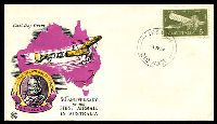 Lot 744:WCS 1963 Airmail 5d tied to illustrated violet & yellow FDC with 'IPSWICH/1JY64/QLD-AUST' cds (arcs 12,11½ - Rated 3R - A1), unaddressed.
