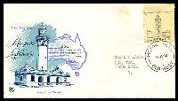 Lot 4557:WCS 1968 Lighthouse illustrated FDC by 'HOME HILL/27NO68/1/QLD-AUST' (Rated R - A2), typed address, tone spots.
