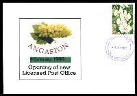 Lot 8250:Angaston: - 'ANGASTON/4JAN1999/S-AUST-5353' in purple, on Alexander LPO Opening Day cover franked with 45c orchid.  PO 10/10/1846.