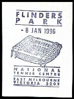 Lot 15370:East Melbourne: - WWW #192, pictorial 'FLINDERS/PARK/8JAN1996/[stadium]/NATIONAL/TENNIS CENTRE/EAST MELBOURNE/VICTORIA 3002'.  PO 1/8/1884.