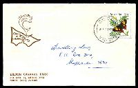 Lot 2392:Eildon (2): WWW #40, 'EILDON/3P13NO84/VIC-3713' on 30c Butterfly on Eildon Caravan Park cover with small logo.  Renamed from Eildon Weir PO c.1950; LPO 3/12/1993.