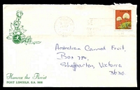 Lot 5004:Interflora illustrated cover for Hancox the Florist, Port Lincoln, S.A., franked with 18c Flower and with 23 Sep 1976 Port Lincoln slogan cancel.