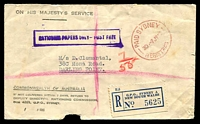Lot 866 [1 of 2]:1943 'PAID SYDNEY/3D-7JY43/REGISTERED