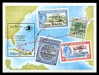 Lot 3716:1992 Columbus Landing in Bahamas SG #946 M/sheet.