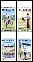 Lot 3252 [2 of 2]:1985 150th Royal Barbados Police Anniv. SG #789-93 set of 4 & M/sheet.