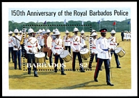 Lot 3252 [1 of 2]:1985 150th Royal Barbados Police Anniv. SG #789-93 set of 4 & M/sheet.