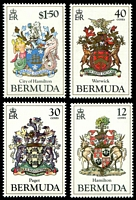 Lot 18050:1985 Coat of Arms 3rd Series SG #499-502 set of 4.