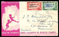 Lot 4009:1948 Health set on illustrated FDC, cancelled with 'WELLINGTON/1OC48.10AM/N.Z' (A2) cds, addressed to Australia.