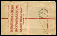 Lot 1565 [2 of 2]:Brisbane: - 'REGISTERED BRISBANE/1130A25JL44/QUEENSLAND' on 5½d Registered Envelope with blue registration label, addressed locally.  PO c.-/4/1830.