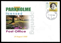Lot 1330:Park Holme: - 'PARKHOLME/24AUG1998/1/S.A. 5043' on 45c Olympic Legend on Alexander LPO Opening day cover, unaddressed.  PO 23/6/1960; LPO 24/8/1998.