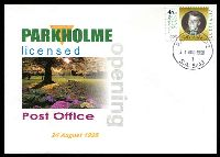 Lot 1695:Park Holme: - 'PARKHOLME/24AUG1998/1/S.A. 5043' on 45c Olympic Legend on Alexander LPO Opening day cover, unaddressed.  PO 23/6/1960; LPO 24/8/1998.