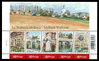 Lot 20236:2006 Tourism, Wallonia SG #4007-11 M/S.
