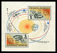 Lot 3376:1985 Space Project 'Vega' SG #2777 M/sheet, Cat £15.