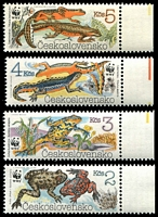 Lot 21461:1989 Endangered Amphibians SG #2981-4 set of 4.