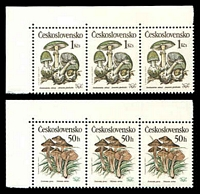 Lot 19124 [2 of 2]:1989 Poisonous Fungi SG #2992-6 set of 5 in strips of 3, Cat £12.75.