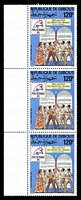 Lot 3675:1989 Philex France '89 SG #1038 120fr strip of 3.