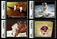 Lot 3399:1989 1st Moon Landing Anniv. SG #1273-6 set of 4.