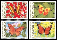 Lot 3678 [1 of 2]:1989 Butterflies SG #1255-62 set of 8, Cat £10.75.