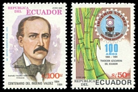 Lot 21271:1985 Valdez Sugar Refinery Centenary SG #1936-7 50s & 100s.