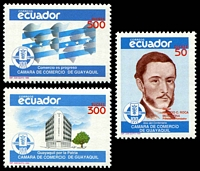 Lot 21273:1989 Guayaquil Chamber of Commerce Centenary SG #2062-4 set of 3.