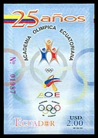 Lot 3694:2005 25th Anniv. of Olympic Academy SG #2766 $2 Imperf. M/sheet, Cat £11.50.