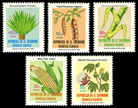 Lot 19296:1984 Agricultural Products SG #1817a,1818a,1817b,1819a,1820a 55c, 70c, 90c, 2col & 10col.